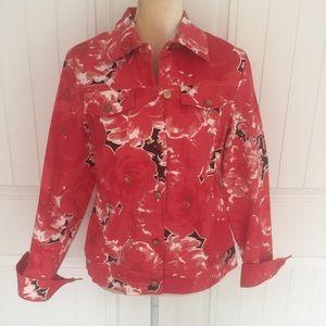 Elizabeth Dalton button down jacket size 8